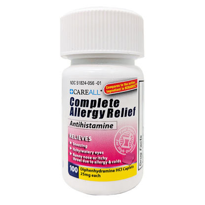 Picture of Complete Allergy Medicine Tablets 100/Ct Diphenhydramine 25mg