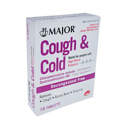 Picture of Cough /Cold High Blood Pressure Tablets 16/Ct