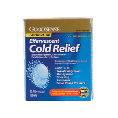 Picture of Effervescent Cold Relief Tablets 20/Ct