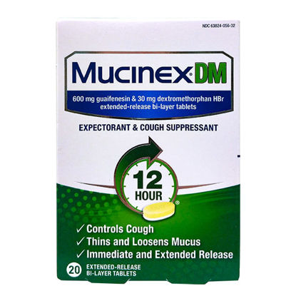 Picture of Mucinex DM Tablets 20/Ct