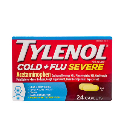 Picture of Tylenol Cold/Flu Severe Caplets 24/Ct