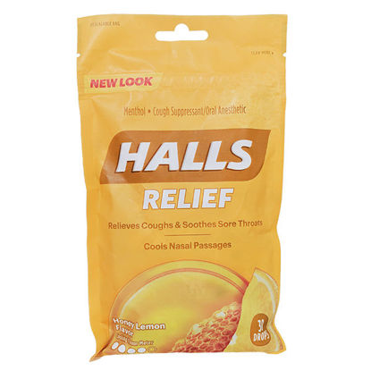 Picture of Halls Honey Lemon Cough Drops 30/Ct