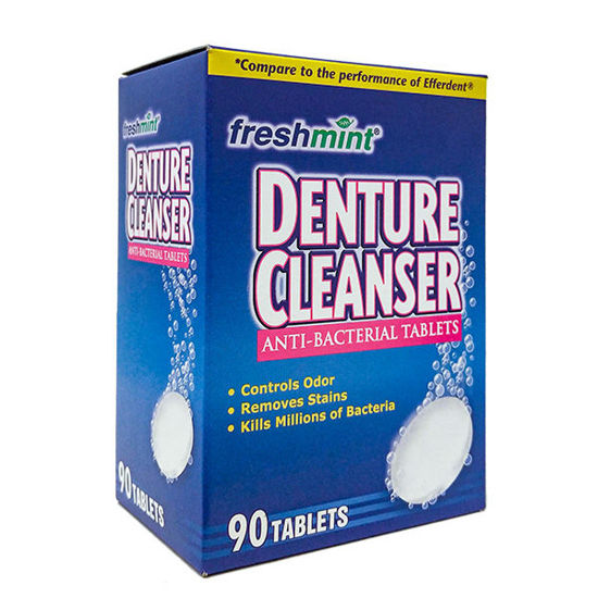 Picture of Freshmint Denture Cleanser Tablets 90/Ct