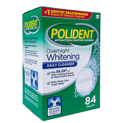 Picture of Polident Overnight Tablets 84/Ct