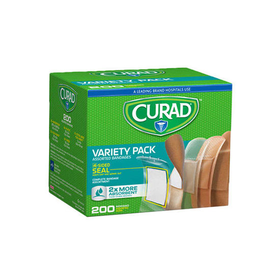Picture of Curad Bandage Variety Pack 200/Ct