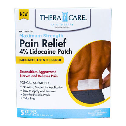 Picture of Pain Relief Lidocaine Patches 5/Ct