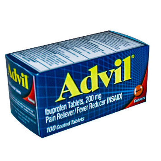 Picture of Advil Coated Tablets 200mg 100/Ct