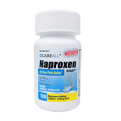 Picture of Naproxen -Generic Aleve- Caplets 220mg 100/Ct