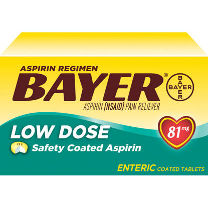 Picture of Bayer Aspirin Low Dose Tablets 81mg 120/Ct