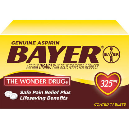 Picture of Bayer Aspirin Tablets 325mg 100/Ct