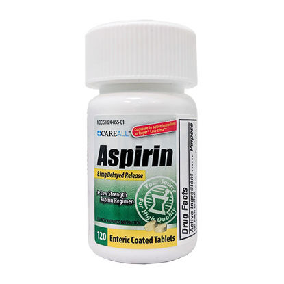 Picture of Low Dose Aspirin Tablets 81mg 120/Ct