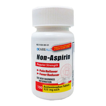 Picture of Non-Aspirin Acetaminophen Regular Strength Tablets 325mg 100/Ct