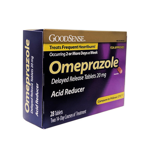 Picture of Omeprazole 20mg Tablets -Generic Prilosec- 28/Ct