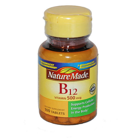 Picture of Vitamin B-12 500mcg Tablets 100/Ct
