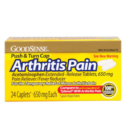 Picture of Arthritis Pain Relief Tablets APAP 650mg 24/Ct