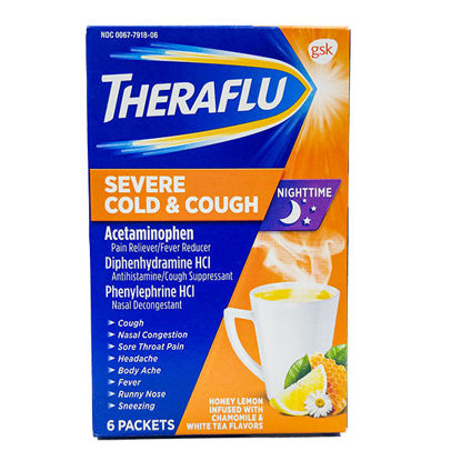 Picture of Theraflu Nighttime Severe Cough & Cold 6/Ct