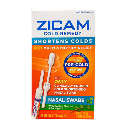 Picture of Zicam Cold Remedy Nasal Swabs 20/Ct