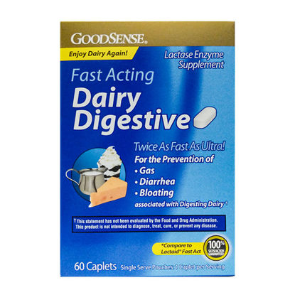 Picture of Dairy Digestive Fast Acting Caplets 60/Ct