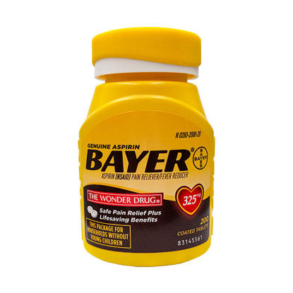 Picture of Bayer Aspirin Tablets 325mg 200/Ct