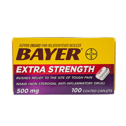 Picture of Bayer Extra Strength 500mg Caplets 100/Ct