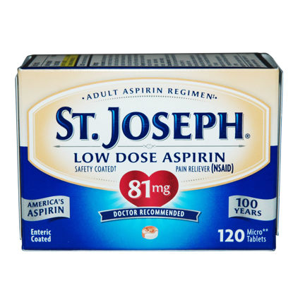Picture of St. Joseph Low Dose Aspirin Micro Tablets 81mg 120/Ct