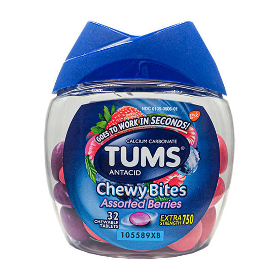 Picture of Tums Chewy Bites Assorted Berry Flavor 32/Ct